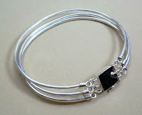 Handmade gents sterling silver bracelet made by Payne's Custom Jewelry