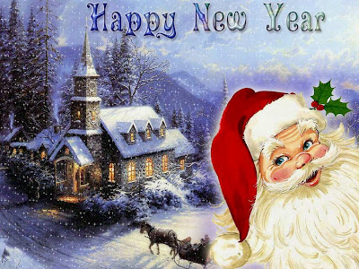 Novogodišnje čestitke slike Happy New year djed Mraz pozadine za desktop download free e-cards New year Santa Claus