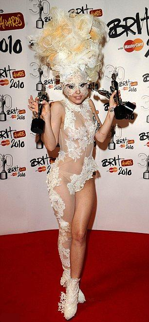Lady Gaga Brit Awards 2010 photos