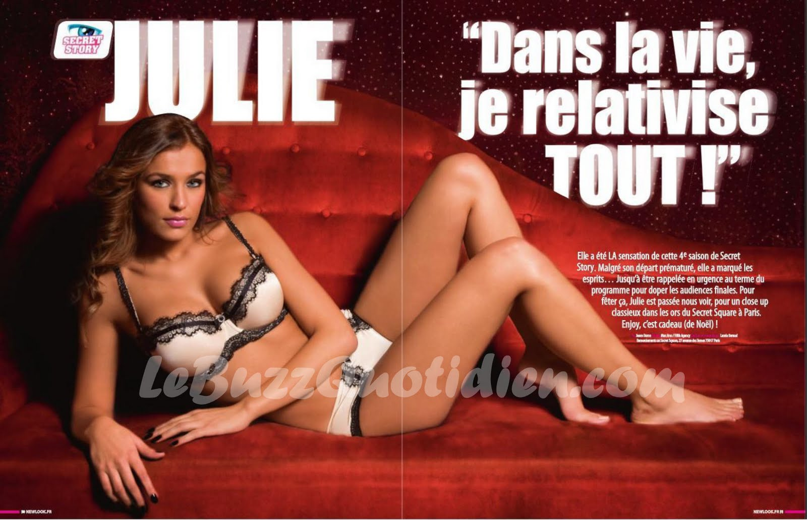Julie nue Secret Story Newlook