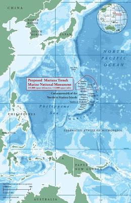 Mariana Trench Marine Monument Map