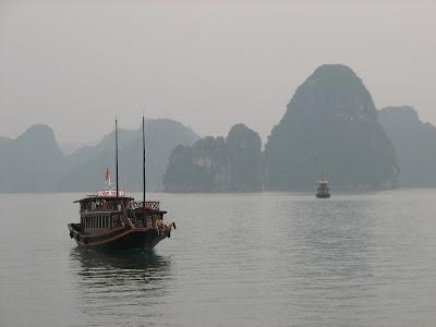 Halong Bay Chinese Junk Boat
