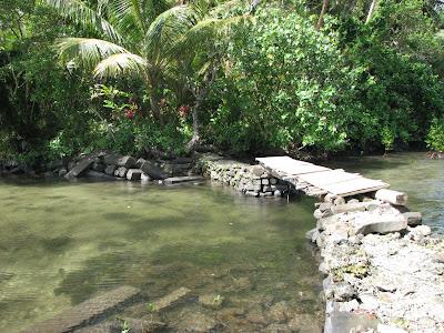 Nan Madol foot bridge