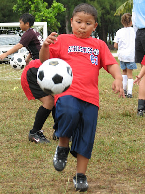 Dribbling a Soccer Ball