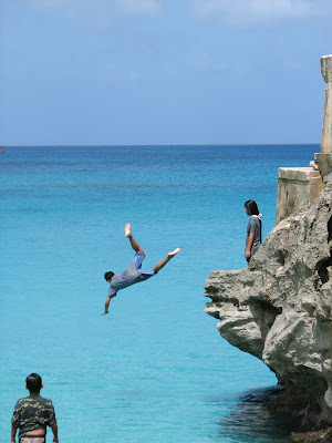 Kids Cliff Jumping