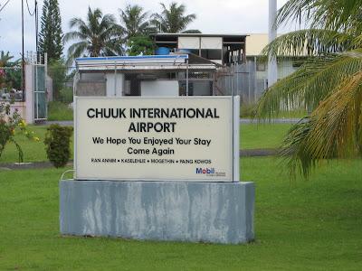 Chuuk Airport Sign