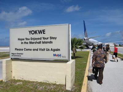 Majuro Airport Sign