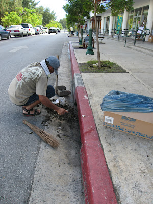 cleaning out drainages