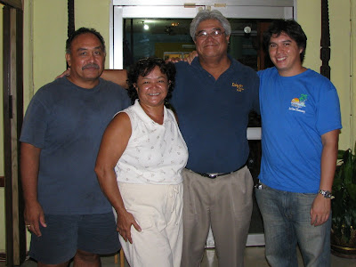 Ike Cabrera Deb Fleming John Salas and Angelo Villagomez at Flemings Hotel