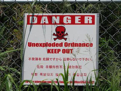live ordnances sign