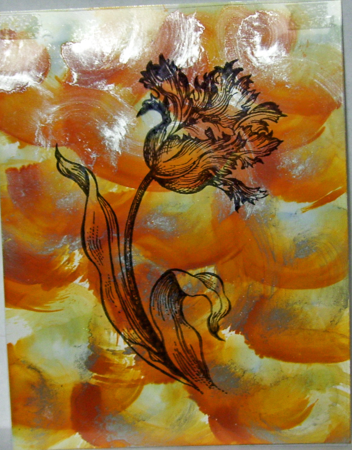 Simply Cards by Maria: Alcohol Ink with Acetate Overlay