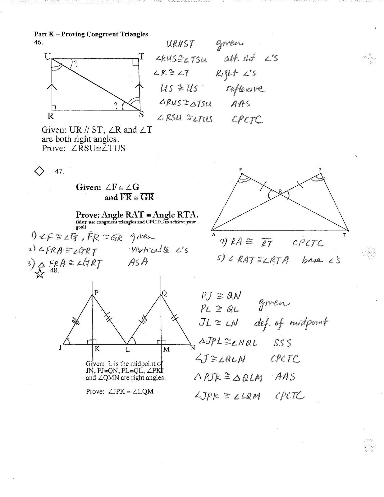 Jiazhen S Geometry Final Review Sheet Answers Are Here