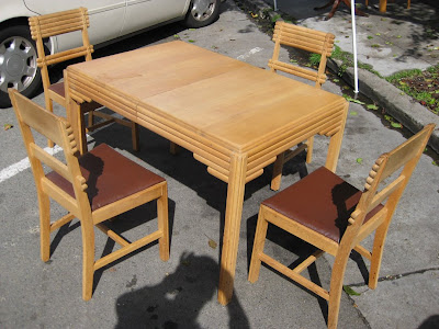 Sold 1940s Kitchen Table Chairs 125 Includes One Leaf Extension