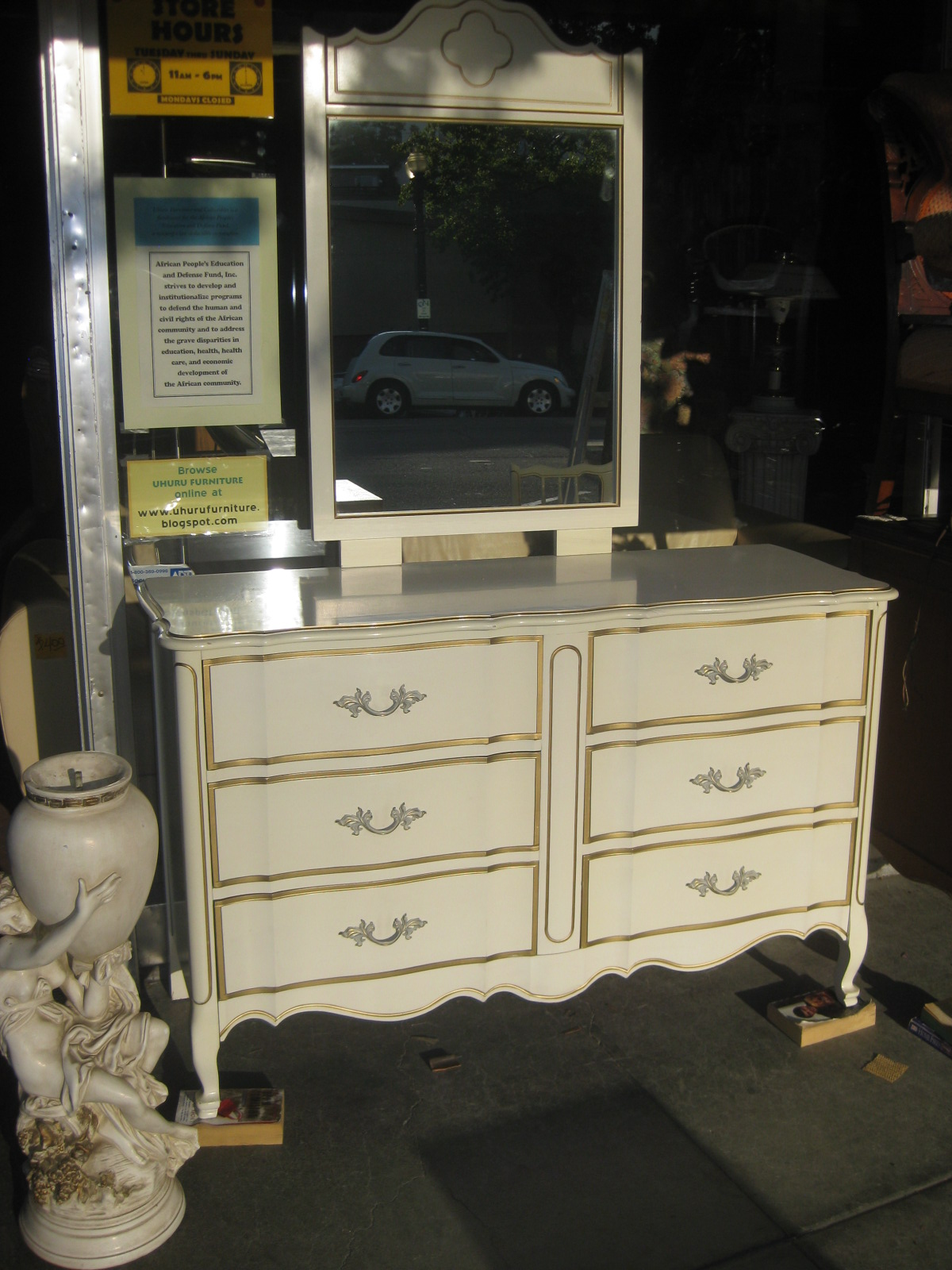 uhuru furniture & collectibles: sold - french provincial bedroom set - $150