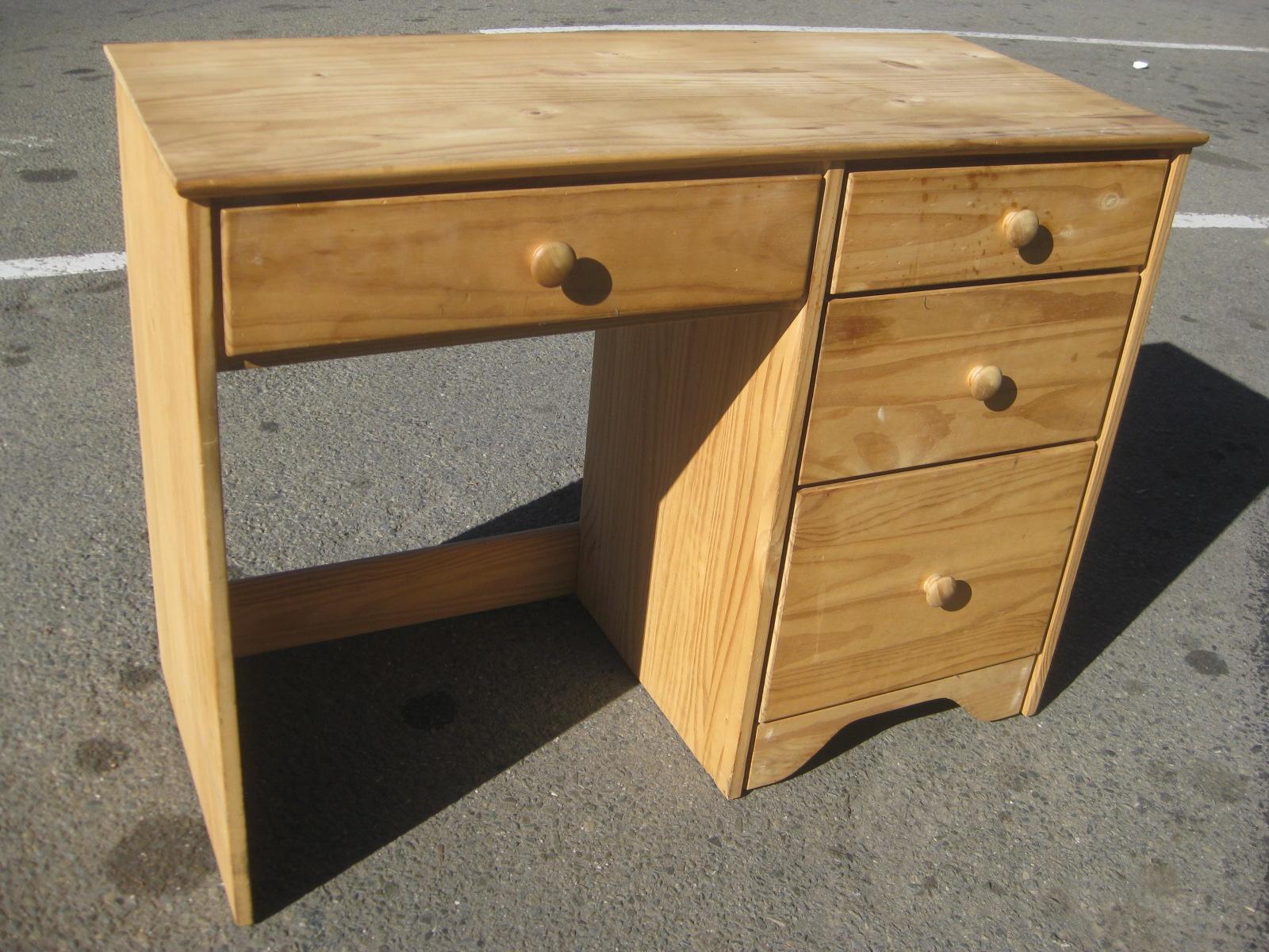 UHURU FURNITURE  COLLECTIBLES SOLD  Solid Pine Desk  50