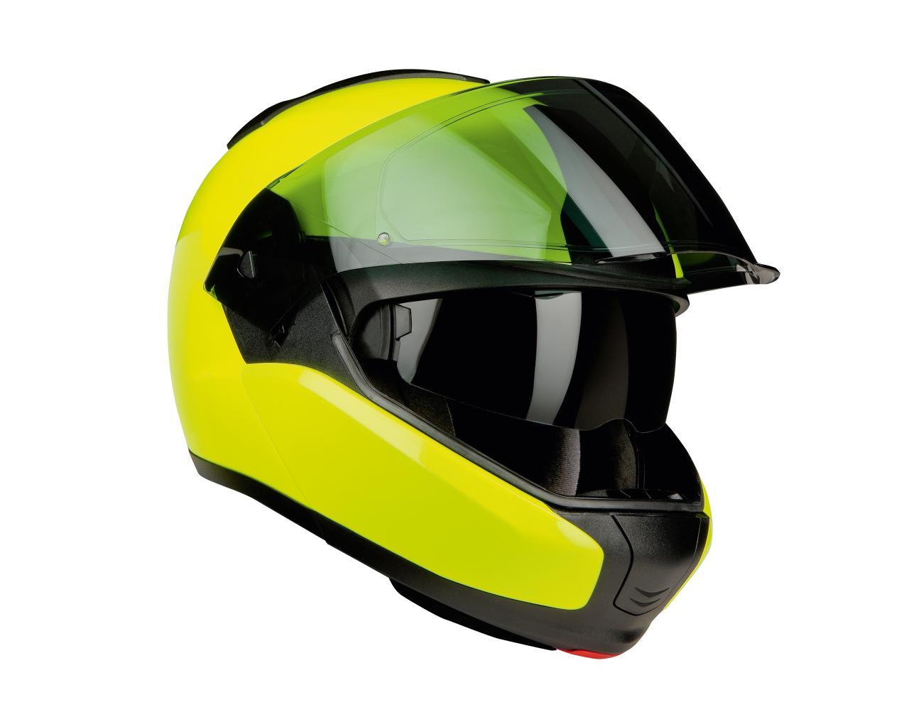 revista coche bmw motorrad presenta su casco system 6 en amarillo fluorescente. Black Bedroom Furniture Sets. Home Design Ideas
