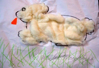 how to make a cotton rabbit