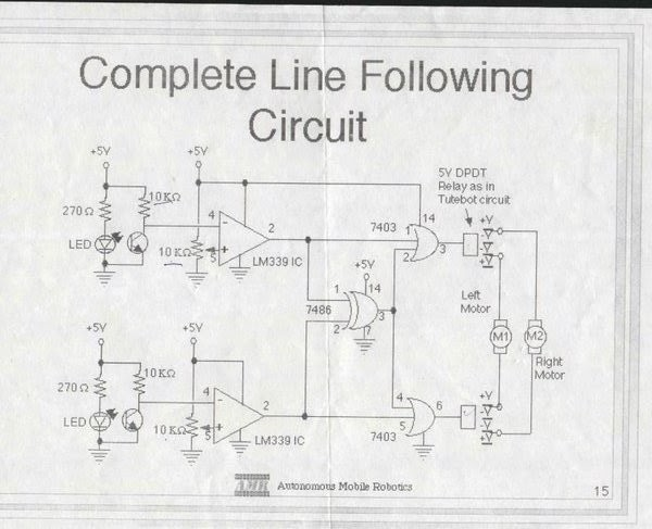 robotics for u  simple line follower using logic gates