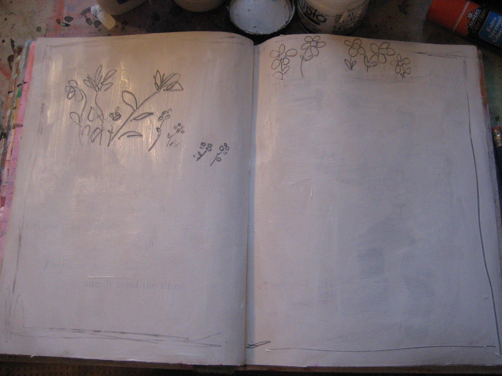 Using an Old Children's Book | Messy Girl Art