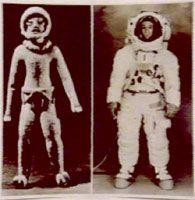oopart, astronauta, statuetta