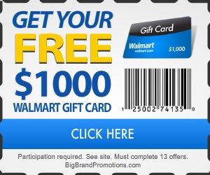 Walmart Gift Card Get Free 1k Walmart Gift Card