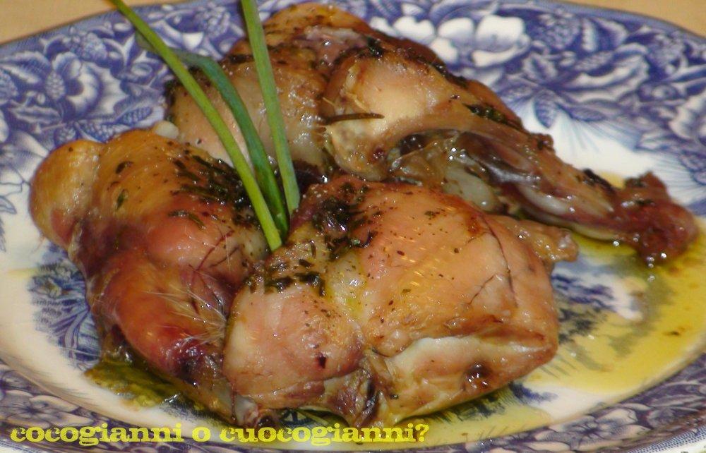 coniglio al forno con dieta di verdure