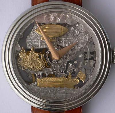 GREINER Invention of the fuel engine skeleton watch