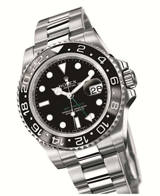 Rolex GMT-Master II 116710LN: 904L steel case with black dial and black Cerachrom bezel insert