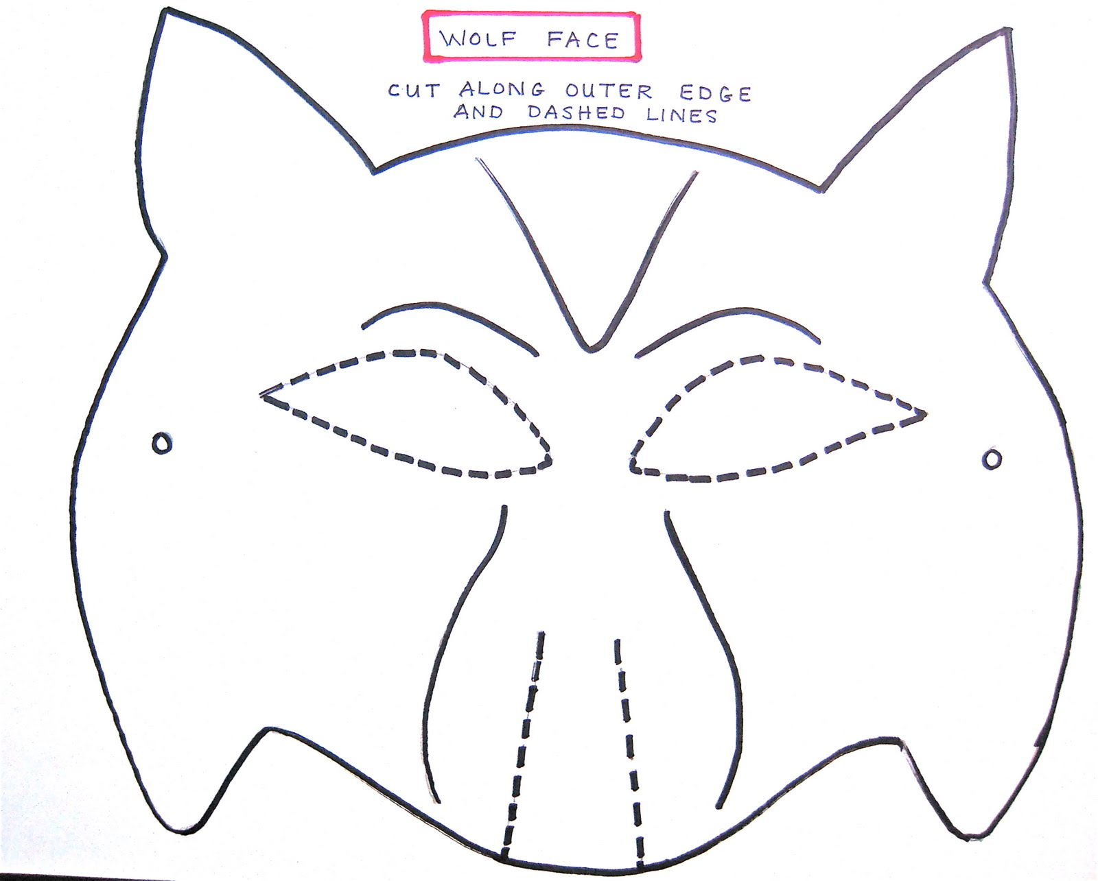 Twilight Family How To Make An Eclipse Wolf Pack Mask