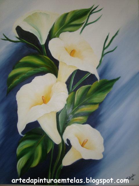 Pintura em Tela Pintura em Tela  Copos de Leite
