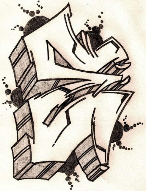 Graffiti Letter E Sketches Design | New Grafiti Makmu