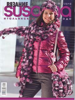 http://vyazem.blogspot.com/ Susanna №1 2010, пальто, кардиган, шапка, шарф