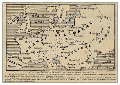 Map Of Europe In World War 1