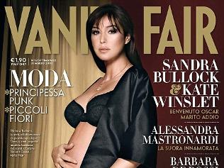 Image: Pregnant cover girl for second time ... Actress Monica Bellucci said she wanted to show being a middle-aged mum is not a problem