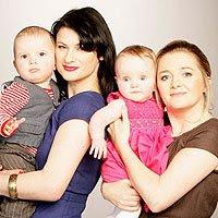 IVF mums Marina (L) and Siobhan