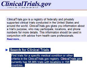ClinicalTrials.gov is a registry of federally and privately supported clinical trials conducted in the United States and around the world.