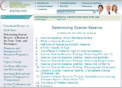 assessing ovarian reserve