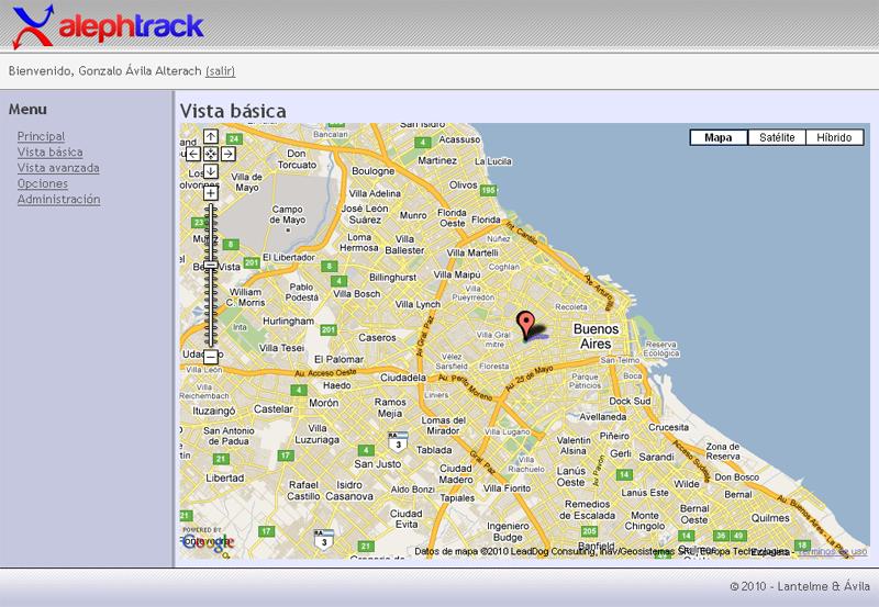 Captura de pantalla de muestra