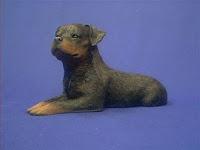 rottweiler figurine sandicast os193