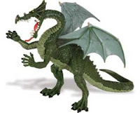 green dragon toy miniature