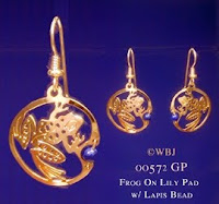 frog earrings gold jewelry