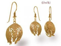 armadillo earrings gold jewelry french curve