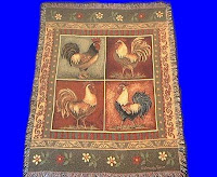 chicken rooster blanket throw tapestry USA