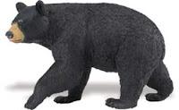 black bear toy miniature