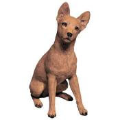 red miniature pinscher figurine sandicast original size