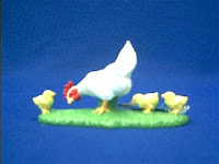 chicken toy hen with chicks