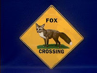 fox crossing sign