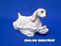 cocker spaniel figurine sandicast