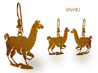 Llama earrings Gold Jewelry French Curve
