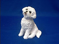 bichon frise figurine dog statue